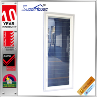 AS2047 glass panel window /aluminum glass louver in superhouse in hot sale