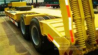 Chinese first 40ft flatbed container semi trailer, ATV flatbed trailer sale in Africa