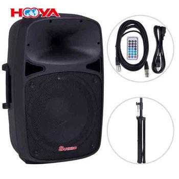 "Portable 15"" 1000W 2-way Powered Speaker USB/SD/FM w Remote Control"