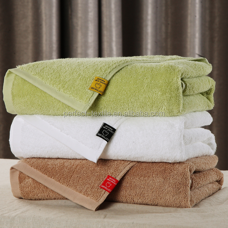 100% cotton absorbent bath terry towel soft textile hotel home use