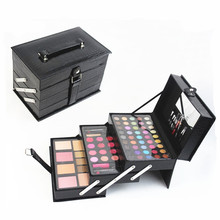 Professional Manufacturer Mirrored Makeup Case / Leather Cosmetic Box For Ladies
