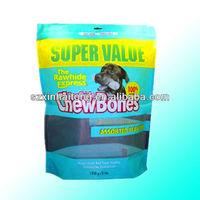Hang holes stand up ziplock pet's food bag