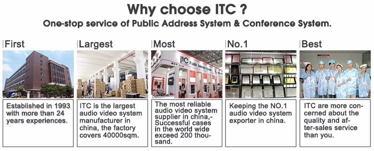 ITC Public Address IP Intercom Surround Audio School Education PA Sound System for Project