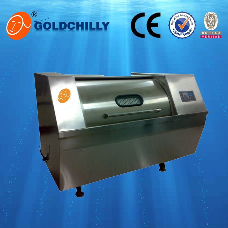 Horizontal industrial clothes washer