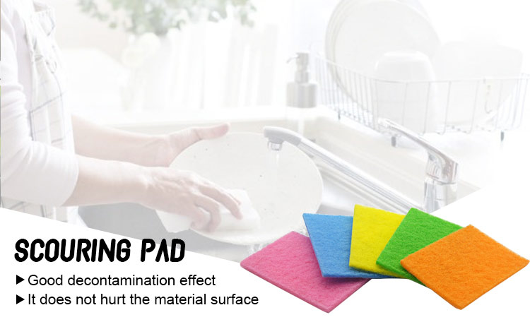 anti-bacterial effect kitchen use nylon sponge scouring pads