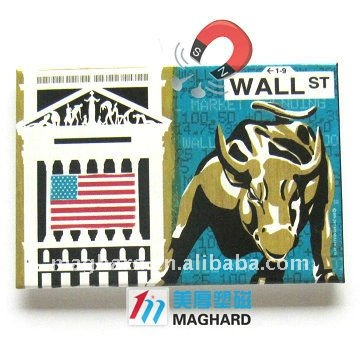 Iron Fridge Magnet Tourist souvenirs Wall Street