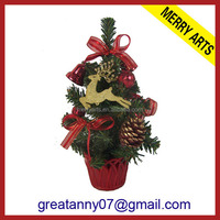 Alibaba china supplier new product table top decorated live mini plastic christmas trees in 30cm