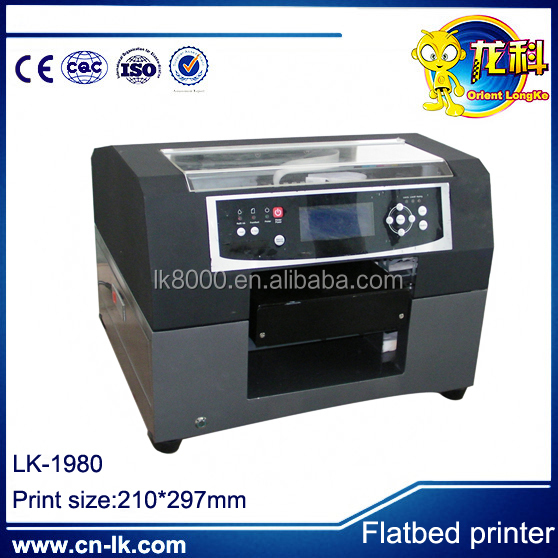 LK1980 size eco solvent printer for different materials,glass printing machine