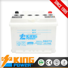 12V Dry Charge car battery 60AH KING POWER Brand DIN60