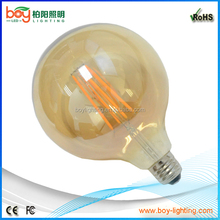 big globe bulb light g125 led filament 4w 6w 8w g125 e27 sphere bulb