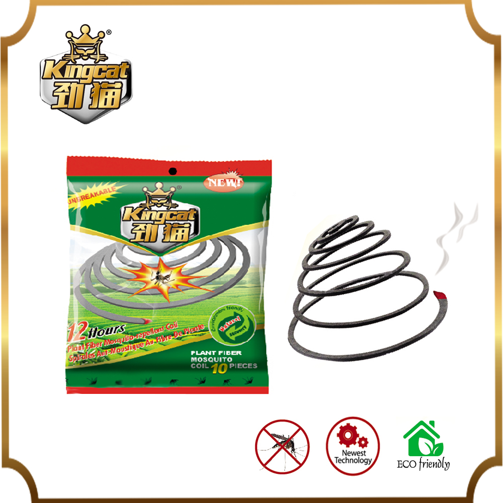 China Mosquito Killer Coils Plant Fibre Mosquito Repellent Coils Fresh Scent Brace 10 Coils Plastic Pack For Camping Picnics