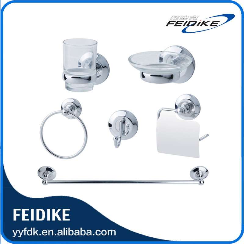 New design zinc alloy chrome finish Feidike 3900 series bath hardware sets Hotel Bathroom Accessories