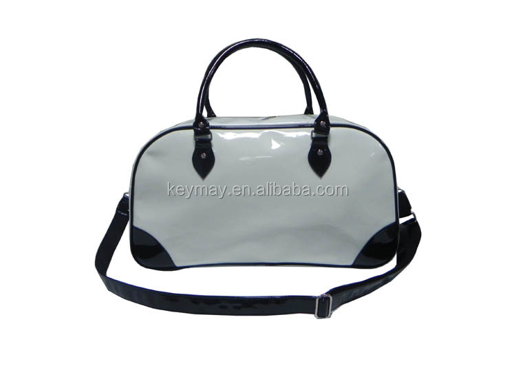 hand sport bag promotional patent leather men gym sport bag custom travel bag