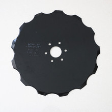 Agriculture notched disc blade produced by 65Mn Steel