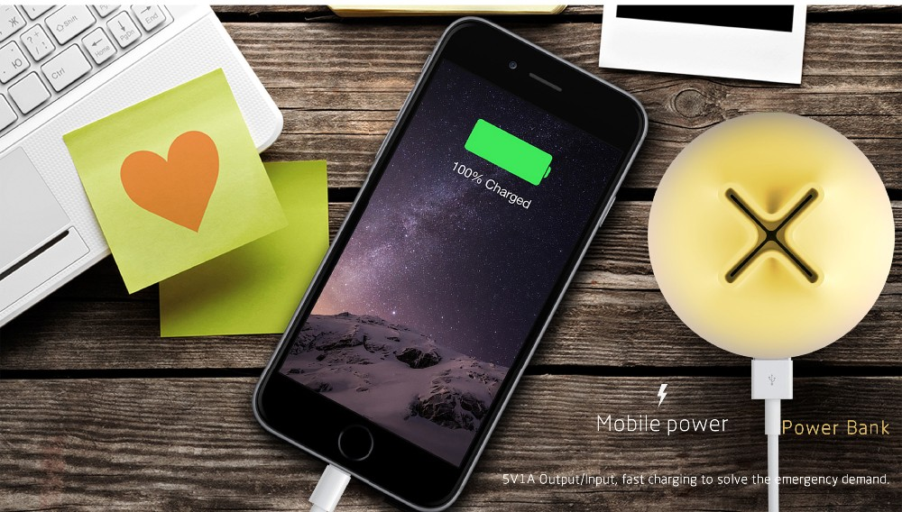 Chinese factory innovative design portable power bank with led light