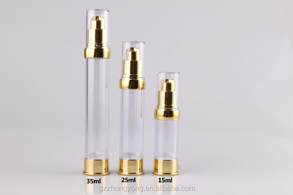 Hot sale cosmetic 15ml 25ml 35ml plastic airless bottle