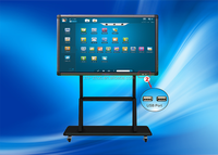 32~65 inch Infrared technology Best price OPS all in one touch screen pc tv