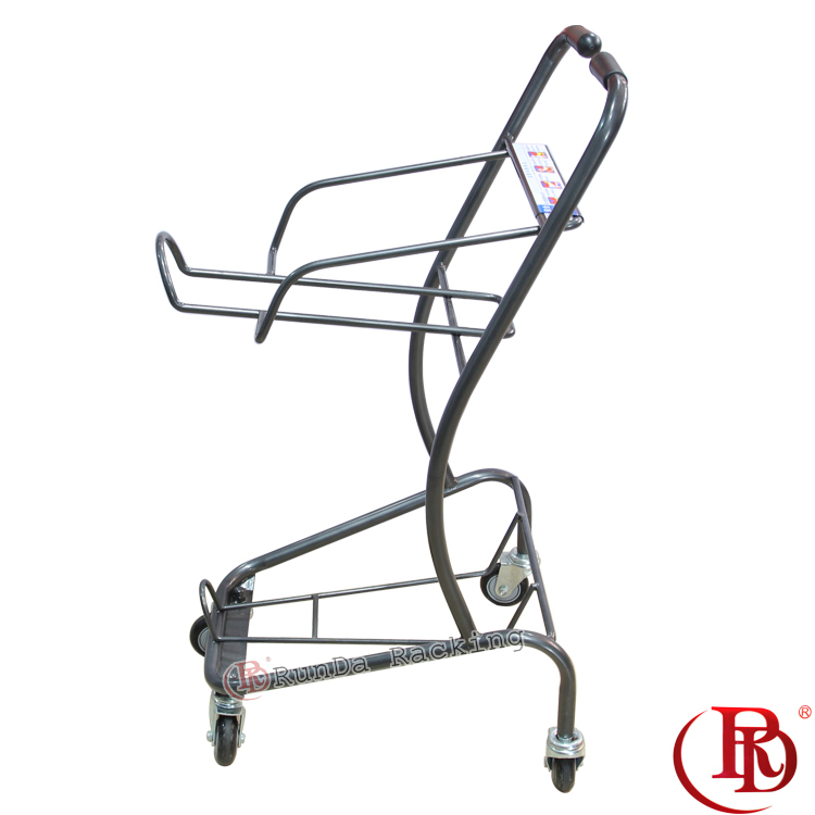4 wheel shopping folding aluminium platform cast iron plant trolley