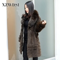 CX-G-A-229 Factory Price New Arrival Italian Natural Fox Fur Coat Ladies
