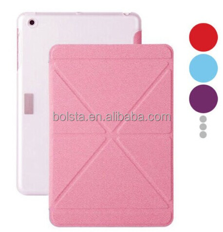 origami case foldable Stand for ipad mini case