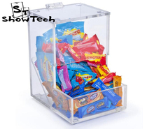 Top Sale High Classic Stackable Acrylic Topping Bins Plastic Clear Acrylic Candy Display Box ST-DSP6885SC3 E06