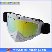 Double Lens Anti Fog Custom Printed Moto Ski Goggle