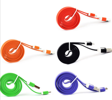 Newest Original Quality Braided Nylon Wire 8 pin USB Cable Sync Woven Charging Charger Cable