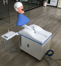 Dental phantom head/teaching simulator unit