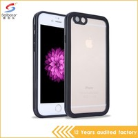 Ultra thin crystal clear soft tpu fashion phone pvc phone waterproof case for iphone 6 6s plus