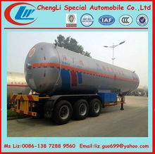 5000 liters lpg tank semi trailer dimention