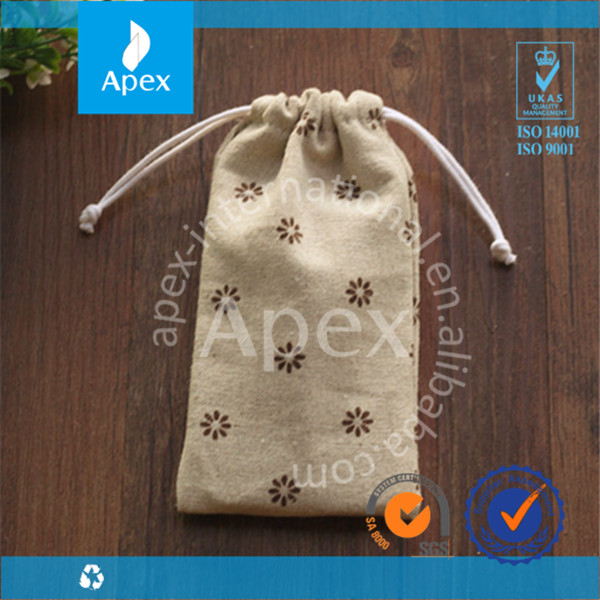 Canvas printed Cheap mobile phone Bag for carry