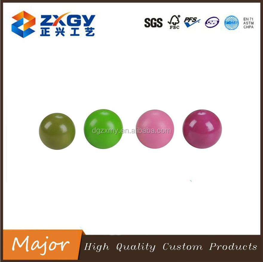 Natural Unfinished Wooden Bead, Colorful Wooden Ball