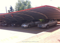 Beautiful heat insulated steel structure car shed for company