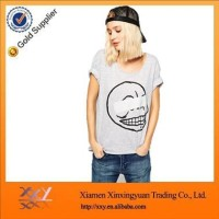 Custom New Style Fashion Good Quality Women Oversize T Shirt Cartoon Printed T Shirt