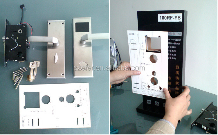 RFID Digital electric electronic hotel room card door lock system for hotel ET600RF