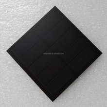 A-grade Monocrystalline 5.5V 1W round shape frosted PET solar panel for solar lights