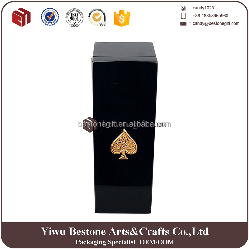 custom logo glossy lacquer wooden microphone box