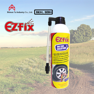 Car anti puncture liquid tire sealant and inflator