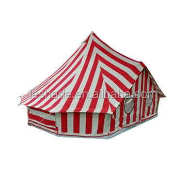 4m bell tent made of stripe color cotton canvas Outdoor glamping tent