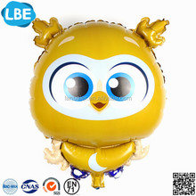 customized promotional gifts balon cartoon owl foil balloon