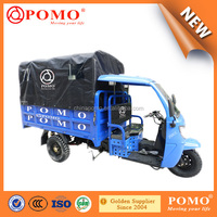 2016 Popular Heavy Load Strong Gasoline Cabin Semi-Closed Cargo Chinese 250CC Made In China Electric Tricycle For Adult