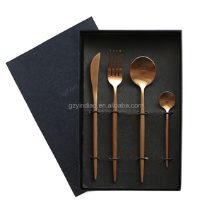 New fashion rose gold cutlery set / manufactory wholesale/ 18/10 stainless steel flatware set/dinnerware/tableware
