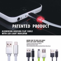 MFi Cable with LED track light