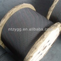 6x7 6x12 oil cable 6x19,6x24 steel wire rope grease coated