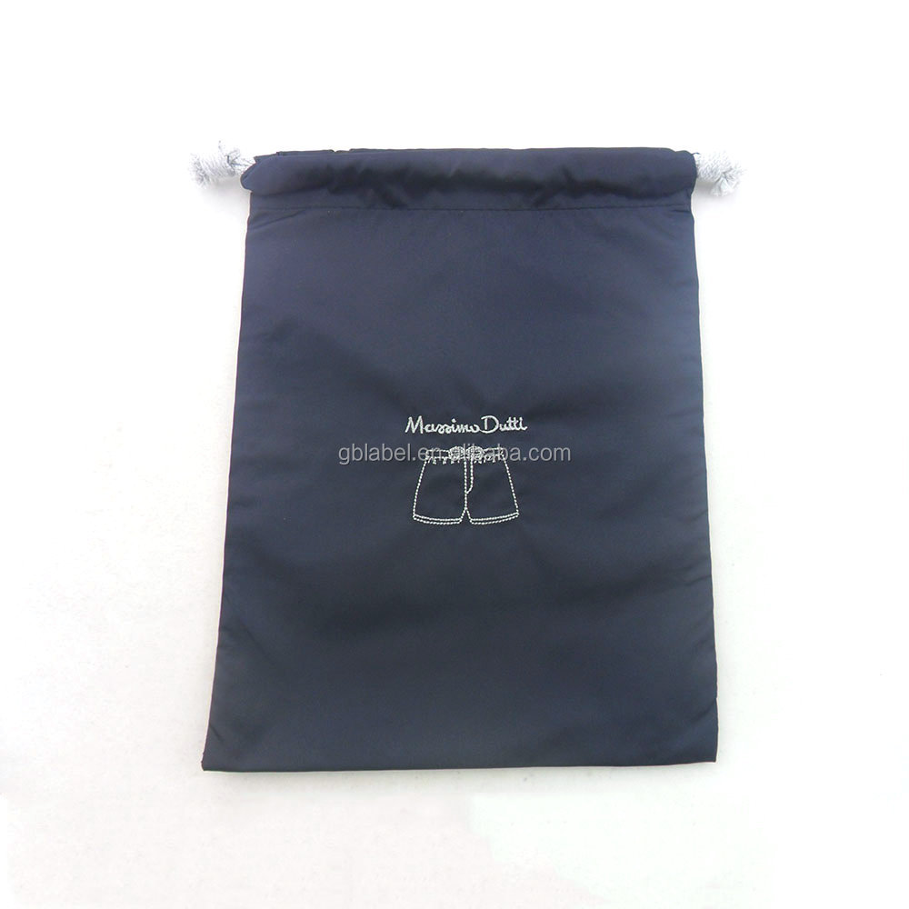 Small Chrismas Gift Drawstring Nylon Bag
