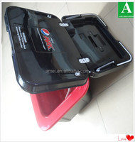 black plastic thermoformed cooler food storage box