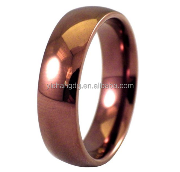 Men's Stainless Steel Ring Unisex Coffee Casual Men Women Wedding Ring