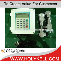 HOLYKELL clamp on ultrasonic transducer 4-20ma output high temperature flow meter UF2000-SW