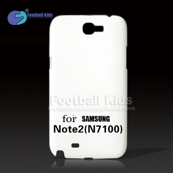 Factory Wholesale high quality 3D blank sublimation phone case For Samsung galaxy Note 2 n7100 /custom print phone case