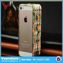 Crystal Diamond Glitter Wallet metal Mobile Cell Phone Case Cover for iPhone 5 5s Wholesale China 2014